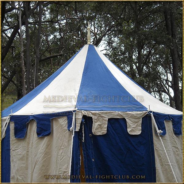 Blue & White Pavilion - Striped Round Tent (3m diameter) Roof