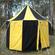 Black & Yellow Pavilion - Striped Round Tent (3m Diameter)