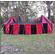 Double Tudor Pavilion Red & Black Rear View