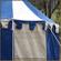Blue & White Pavilion - Striped Round Tent (3m diameter) Wall Close-Up