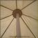 Square marquee tent (5m diameter) Roof Interior