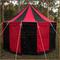 Red & Black Pavilion - Striped Round Tent (5m Diameter)