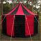Red+Black Pavilion - Striped Round Tent (5m diameter)